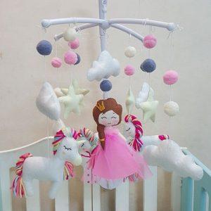 bộ treo nôi công chúa tóc mây