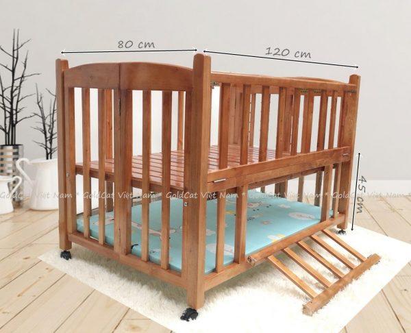 Giường cũi 2 giắt gỗ quế