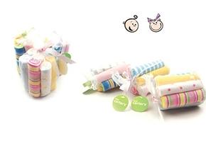 Set 8 khăn sữa túi lưới